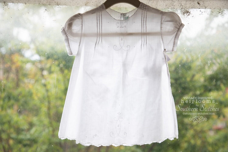 Vintage White Handmade Dress