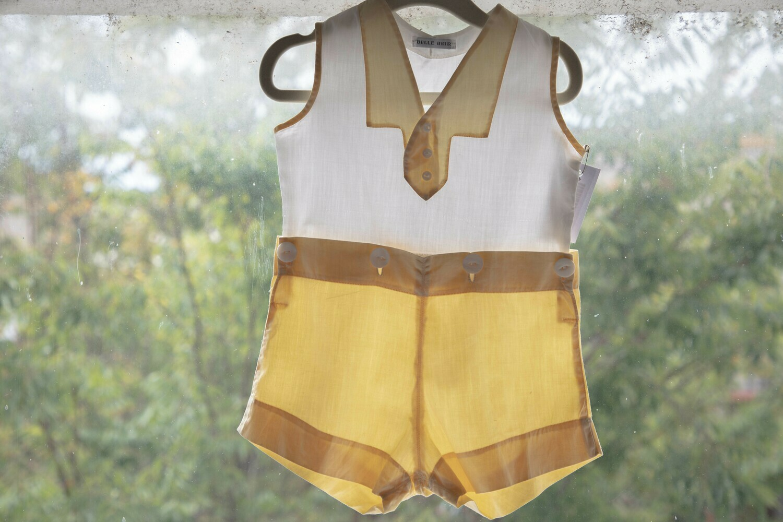 Boy's Vintage Button-on Sleeveless Suit