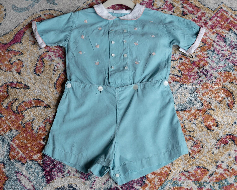 Boy's Vintage Mason Line Button-on Suit