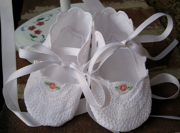 Lace Baby Booties