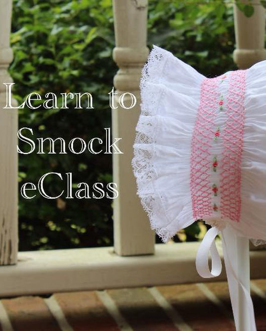 Southern Stitches Smocked Tapered Bonnet eClass