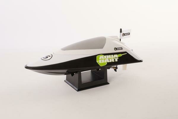 Rage R/C - Aqua Dart RTR Boat-White/Black (RGRB1101)