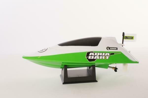 Rage R/C - Aqua Dart RTR Boat-White/Green (RGRB1100)