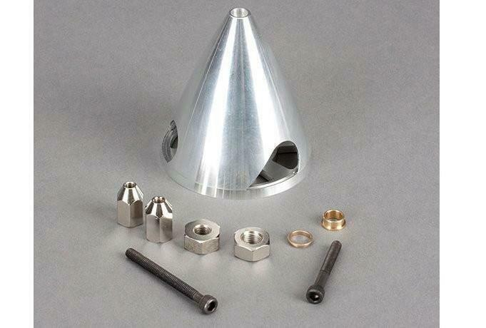 "3"" 3-Blade Aluminum Spinner: Cirrus SR22T 30cc  by Hangar 9"