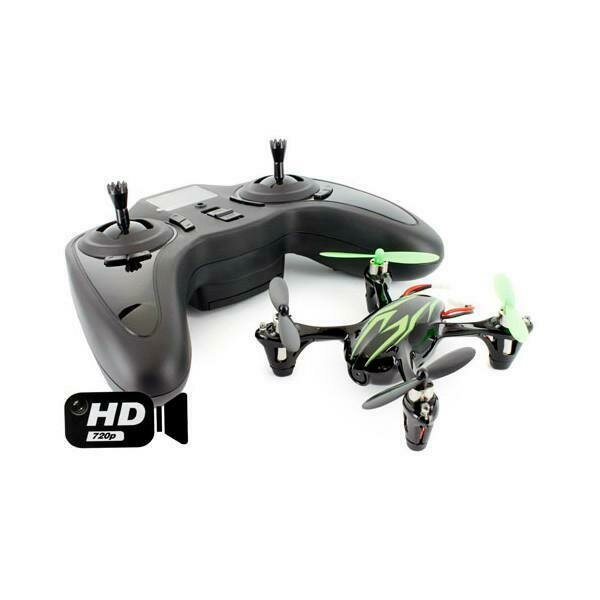 Hubsan X4 (H107C HD) 4 Channel 2.4GHz RC Quad Copter with 720p HD Camera Green&Black (61170-02)