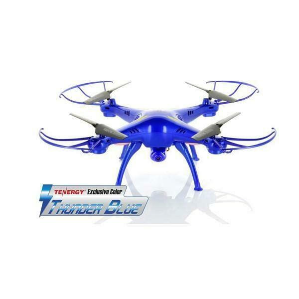 Syma X5SW Explorers 2 2.4G 4CH 6-Axis Gyro RC Headless Quadcopter with Wifi Camera (FPV) - Tenergy Thunder Blue Deluxe Package (61287)