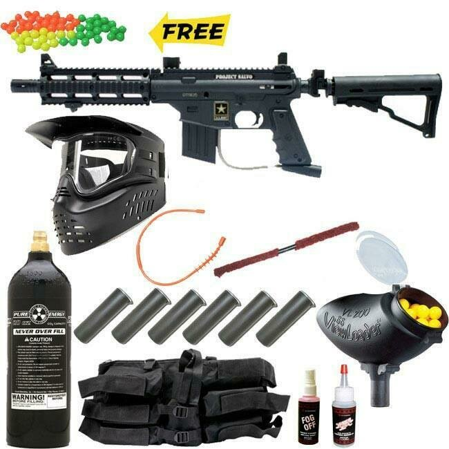 US Army Project Salvo Paintball Gun MEGA Set