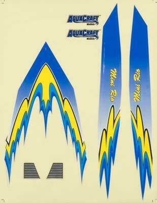 AquaCraft Decal Sheet Blue Mini Rio
