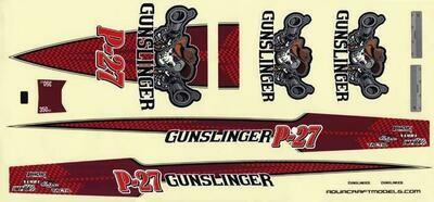 AquaCraft Decal Sheet P-27 Gunslinger Crackerbox