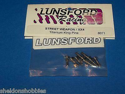 LUNSFORD (STREET WEAPON/XX4) TITANIUM KING PINS (8 PCS) #8071