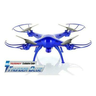 Syma X5SC 2.4G Quadcopter with 2MP 720P HD Camera - Tenergy Thunder Blue Deluxe Package with Additional Accessories (61258)