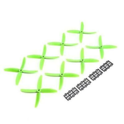 Quad Prop 5x4x4, Green: 8 pack (HQPQP504040G)