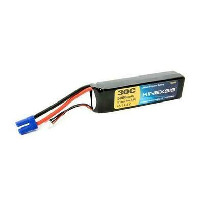 14.8V 5000mAh 30C 4S LiPo Battery, 10AWG: EC5 (KXSB0024)