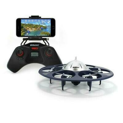 UDI U845 Voyager WiFi FPV UFO HexCopter RC Drone with Real-time Aerial Photography 720P HD Camera App Controllable by Smart Devices (61325)