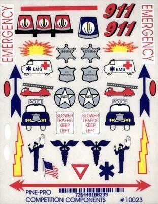 10023 Emergency Vehicle Decal