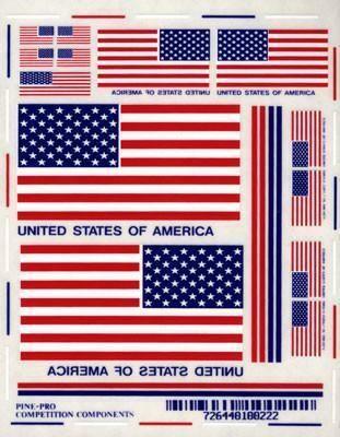 10022 USA Flag Decal Set
