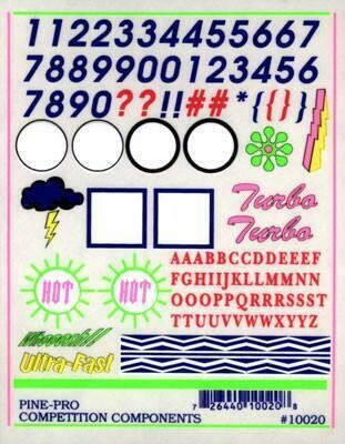 10020 Numbers & Letters Decal