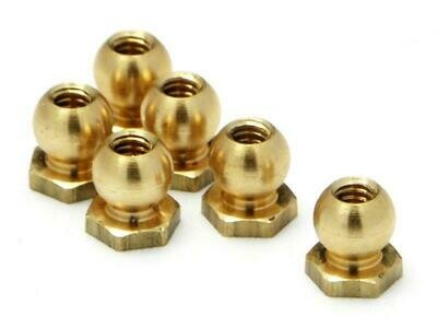 HPI  #72335 - BALL NUT M2x3.8x4.5mm (6pcs)
