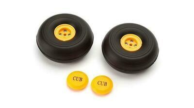 60mm Wheels: J-3 Cub 450  by E-flite
