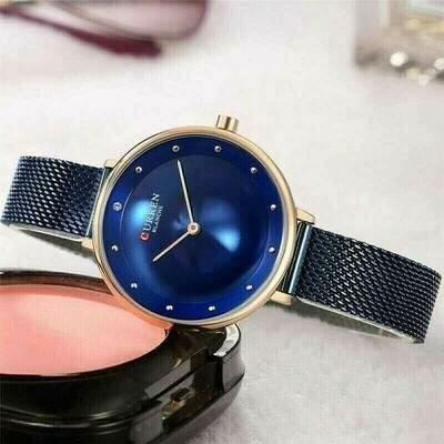 ساعة كورين النسائية الزرقاء