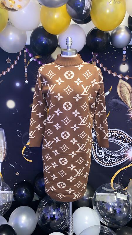 Brown Thang Dress