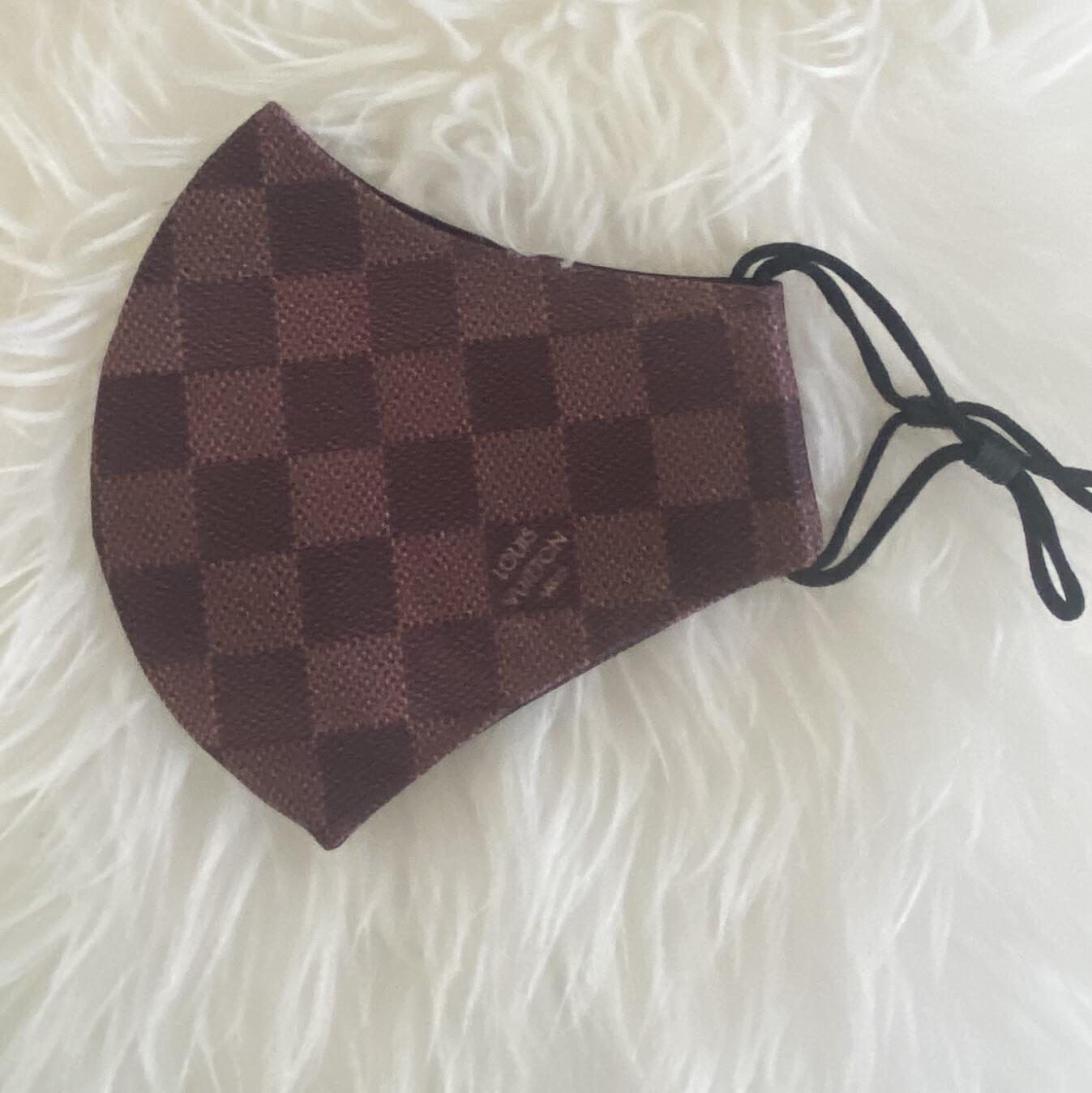 Checkered LV Mask