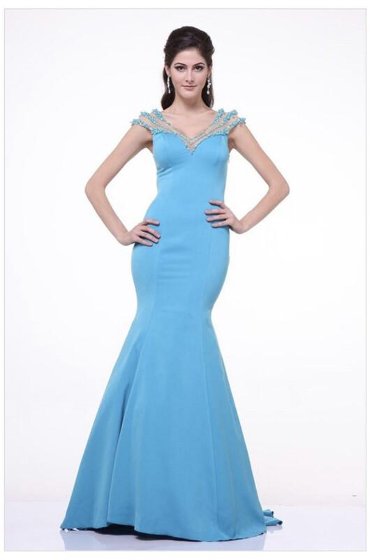Blue Illusion Dress