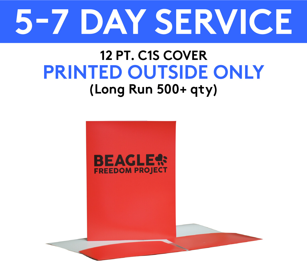 12 pt. C1S Cover Presentation Folders Printed 4/0 (Outside Only)   5-7 Day Service    (Long Run 500+ qty )