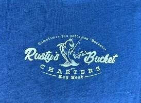 Rusty's Bucket Classic TEE in DARK BLUE- xxl only