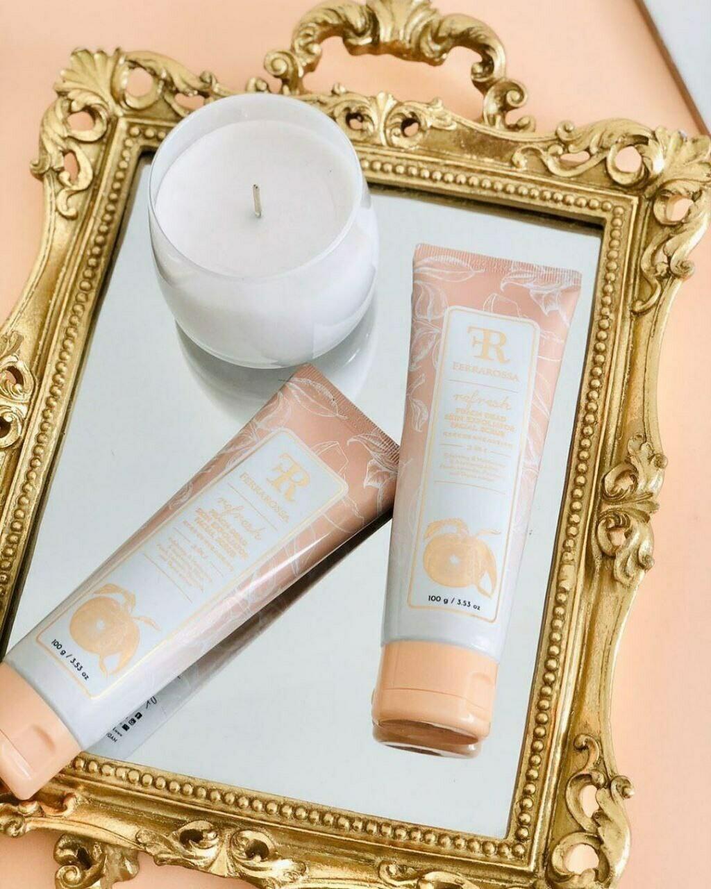 Ferrarossa Peach Dead Skin Exfoliator Facial Scrub