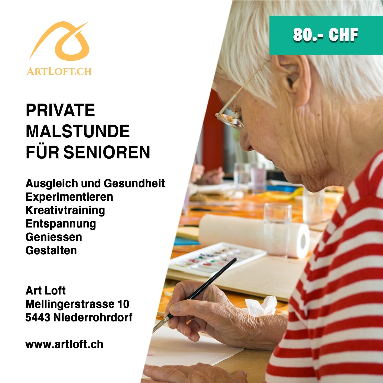 Private Malstunde für Senioren