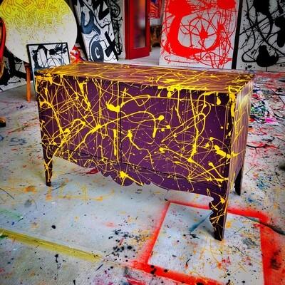 Jackson Pollock Sideboard - BuBu Collection