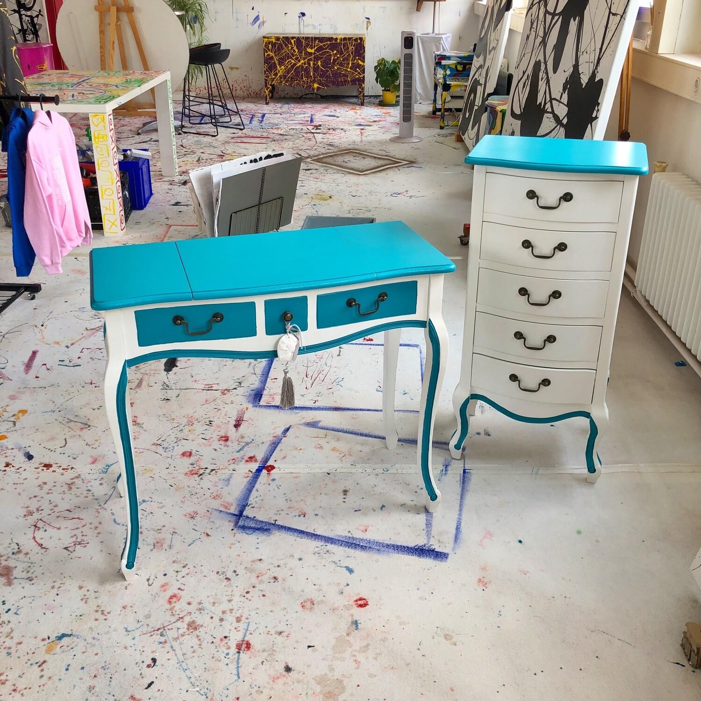 Tiffany Schminktisch Set mit Schrank - BuBu Collection