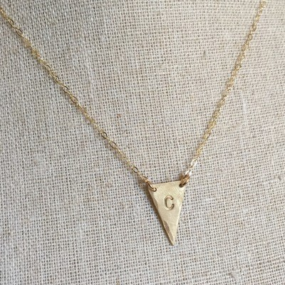 14k Gold-Filled or Sterling Silver Triangle Initial