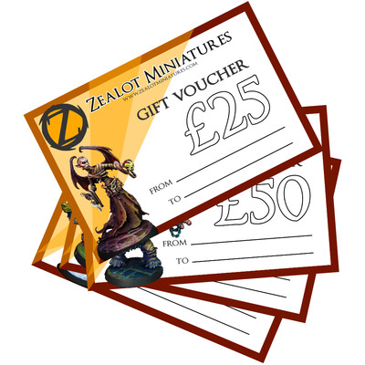 Zealot Gift Cards - £25, £50, £75 or £100