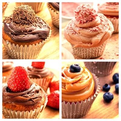 Cupcake de Baunilha – Escolha os Sabores