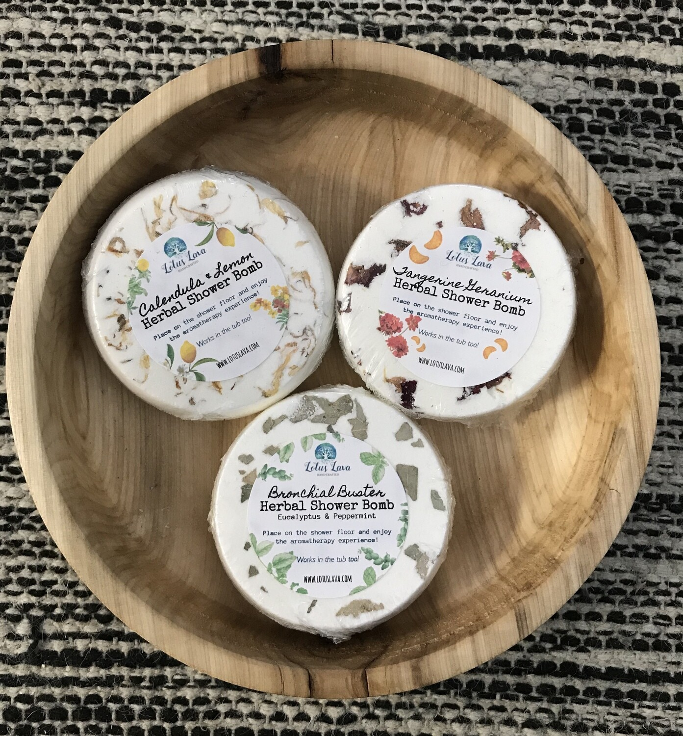 Aroma Therapy Herbal Shower Bomb - 3 scents
