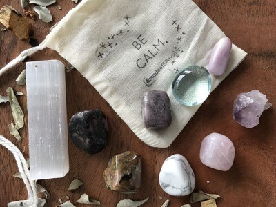 "The ""Be Calm"" Crystal Healing Set"