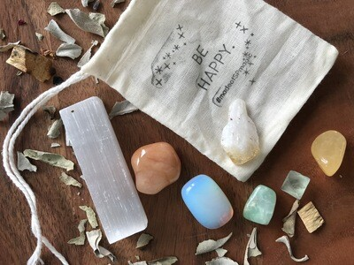 "The ""Be Happy"" Crystal Healing Set"