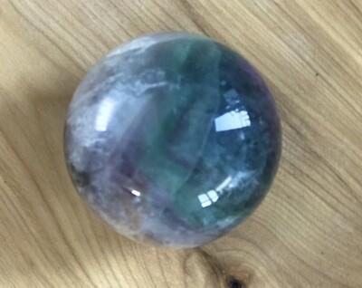 Rainbow Fluorite Sphere