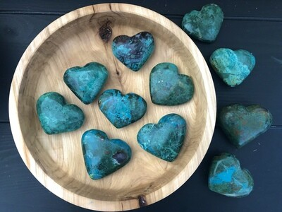 Chrysocolla Palm Heart Stone