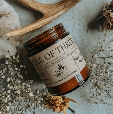 Rule of Three Herbal Candle