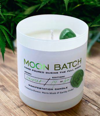 Limited Edition Wolf MOON BATCH - Green Lady Manifestation Candle