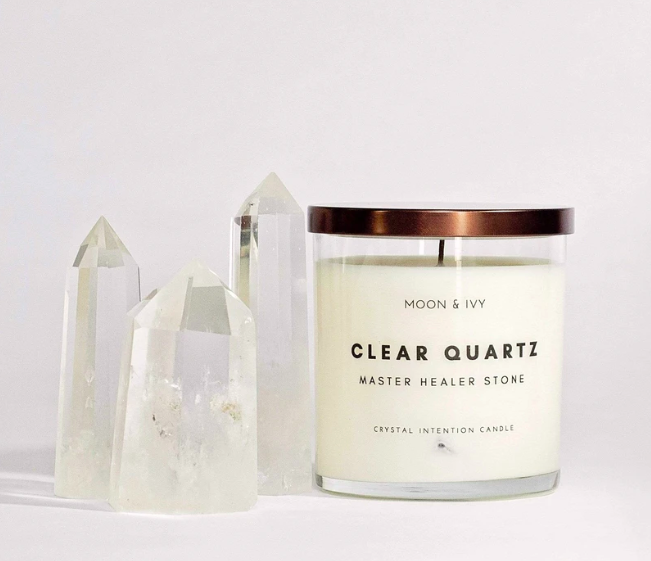 Clear Quartz Candle
