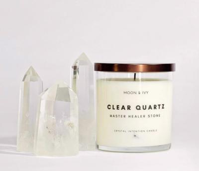 Clear Quartz Candle