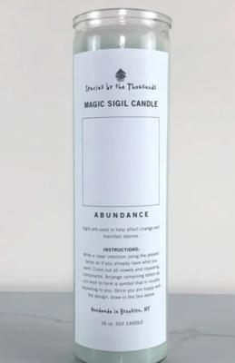 Magic Sigil Abundance Candle