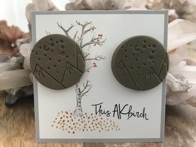 Small Mountain Stud Earrings - Made in AK