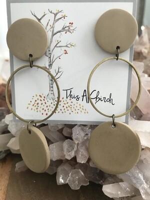 Tan Dangle Earrings - Made in AK