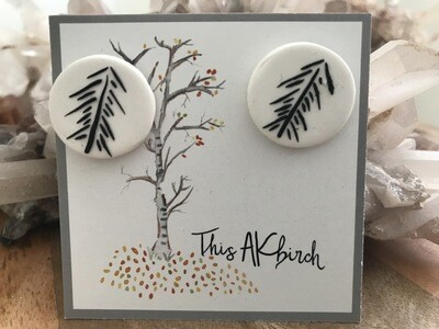 Black Spruce Stud Earrings - Made in AK