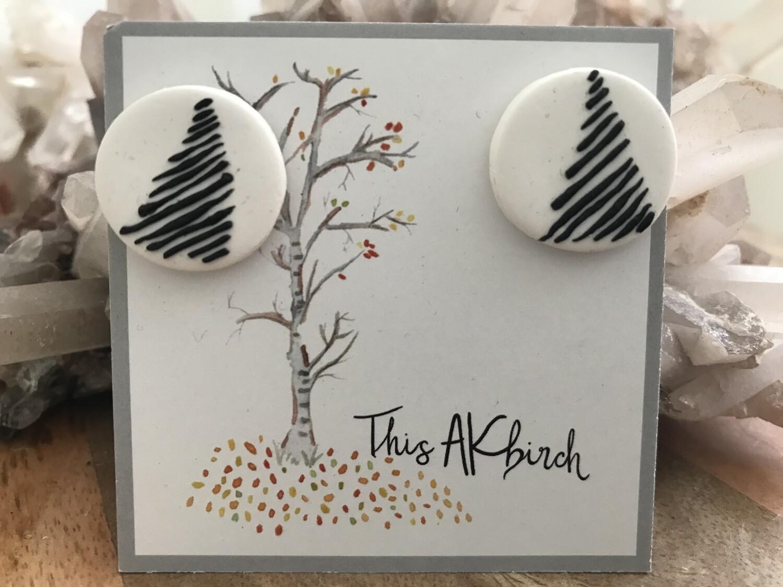 Fir Tree Stud Earrings - Made in AK